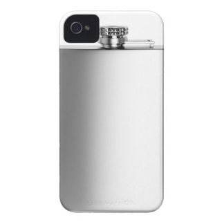 Stainless steel hip flask iPhone 4 case