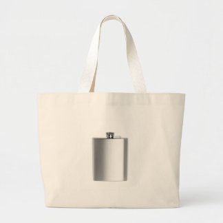Stainless steel hip flask large tote bag