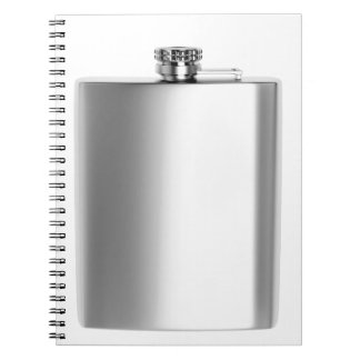Stainless steel hip flask notebook