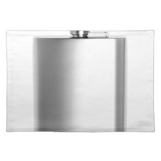 Stainless steel hip flask placemat