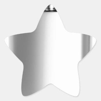 Stainless steel hip flask star sticker