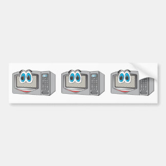 Stainless Steel Male Microwave Cartoon Bumper Sticker