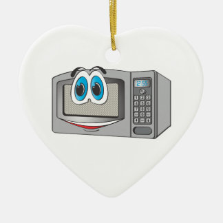 Stainless Steel Male Microwave Cartoon Ceramic Heart Decoration