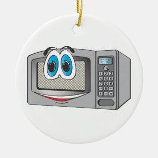 Stainless Steel Male Microwave Cartoon Round Ceramic Decoration