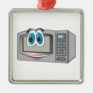 Stainless Steel Male Microwave Cartoon Silver-Colored Square Decoration
