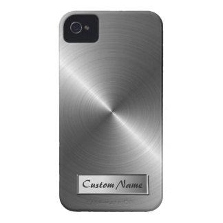 Stainless Steel Metal Look iPhone 4/4S Case