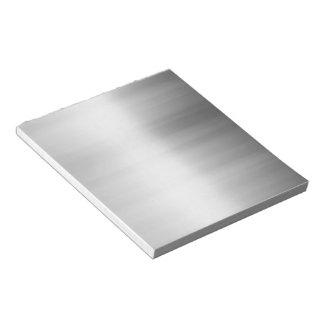 Stainless Steel Metal Look Notepad