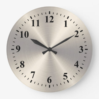 stainless steel wall clocks. Black Bedroom Furniture Sets. Home Design Ideas