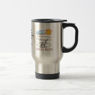 Stainless steel mug with Country Musing logo