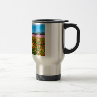 Stainless Steel mug with flower fields