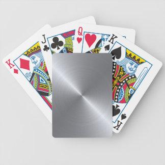 Stainless Steel Polished Metallic Poker Deck