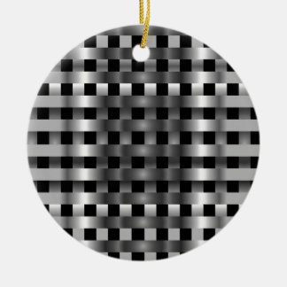 Stainless steel round ceramic decoration