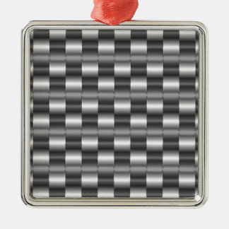 Stainless steel Silver-Colored square decoration