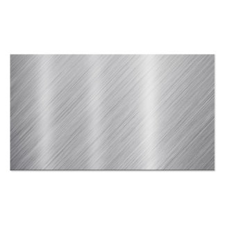 """Stainless Steel texture """"Blank"""" Pack Of Standard Business Cards"""