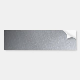 Stainless steel texture with lighting highlights car bumper sticker