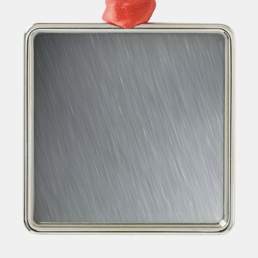 Stainless steel texture with lighting highlights christmas ornament