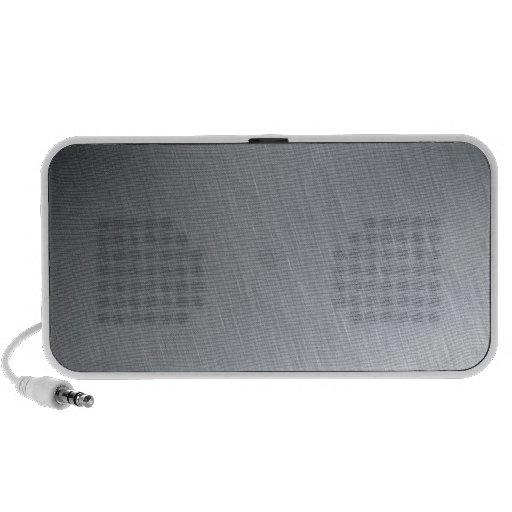 Stainless steel texture with lighting highlights notebook speakers