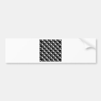 Stainless steel tile background bumper sticker