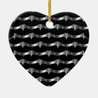 Stainless steel tile background ceramic heart decoration