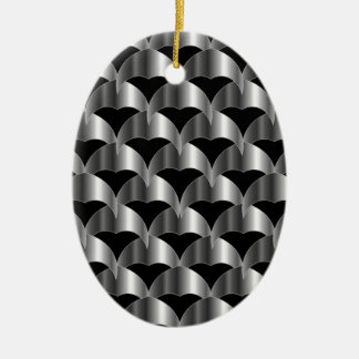 Stainless steel tile background ceramic oval decoration