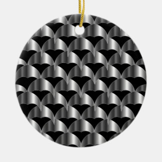 Stainless steel tile background round ceramic decoration