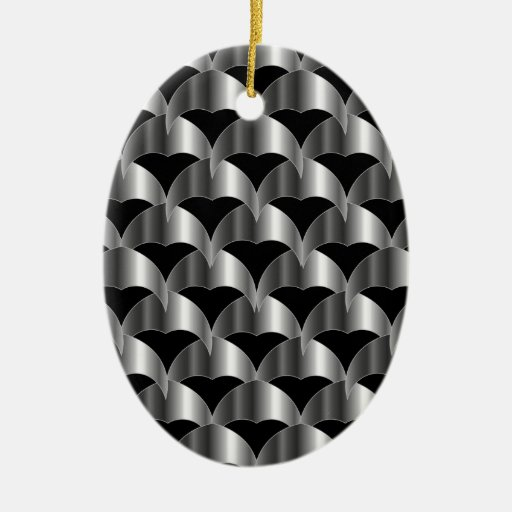 Stainless steel tile background christmas ornament