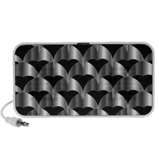 Stainless steel tile background travel speakers