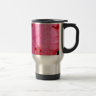 Stainless Steel To Go Cup with Pink Flower Coffee Mugs