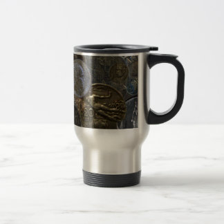 Stainless Steel Travel Mug - Antique Italian Coins