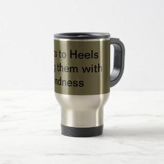 Stainless steel travel mug with saying