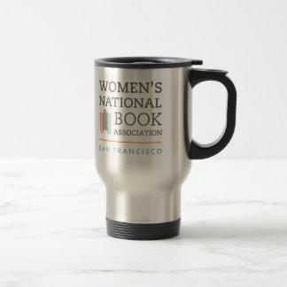 Stainless steel travel mug with WNBA SF logo