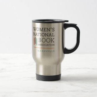 Stainless steel travel mug with WNBANashville logo