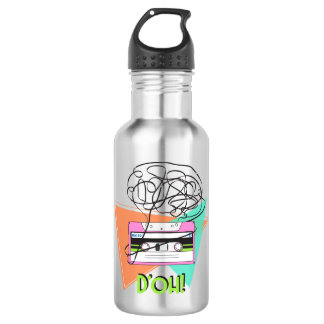 Stainless Steel Water Bottle colorful Doh Tape art