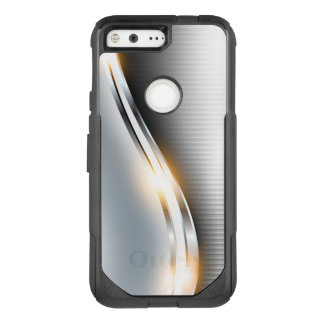 Stainless Steel Wave Design OtterBox Commuter Google Pixel Case