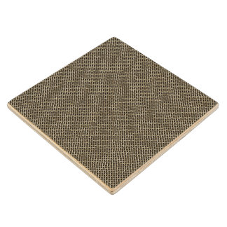 Stainless Steel Wire Mesh Pattern Wood Coaster