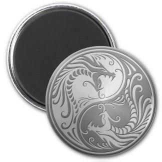 Stainless Steel Yin Yang Dragons Magnet