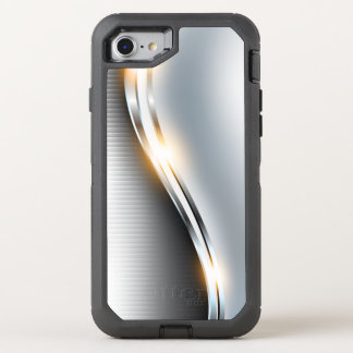 Stainless Wave Design OtterBox Defender iPhone 8/7 Case