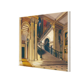 Stair Case, Buckingham House, from 'The History of Canvas Print