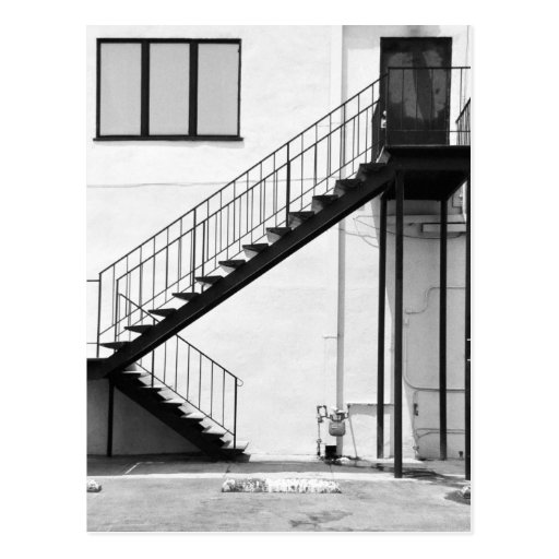 Staircase in Black and White Post Cards