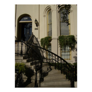 Staircase in Savannah, Georgia Poster