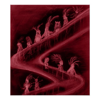 Staircase of Insanity (Red) Poster