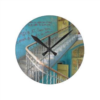 Stairs 01.0, Lost Places, Beelitz Round Clock