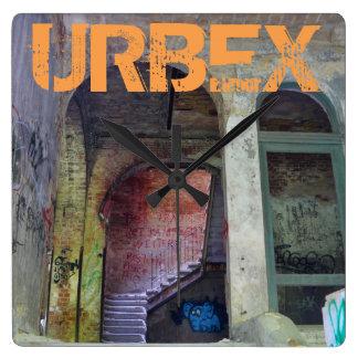 Stairs 02.0 ruin 02, URBEX, Beelitz Square Wall Clock
