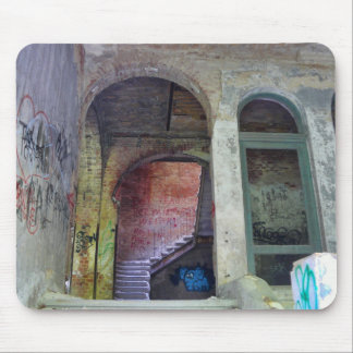 Stairs 02.0 ruin, Lost Places, Beelitz Mouse Pad
