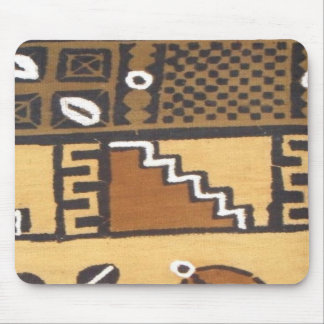 Stairs African mud cloth mouse pad