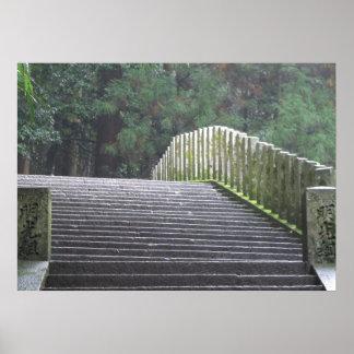 Stairs on Mt. Kurama Poster