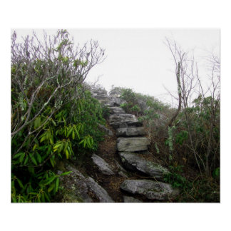 Stairs to the Clouds, Appalachian Trail Poster