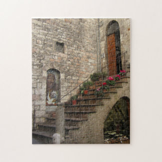Stairway in Assisi -- puzzle