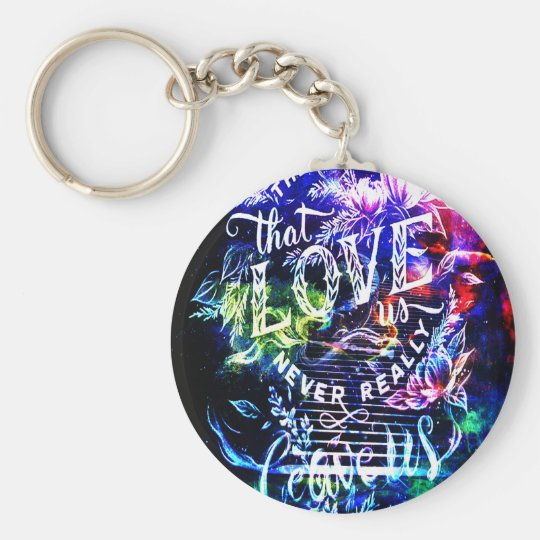 Stairway the Ones that Love Us Basic Round Button Key Ring
