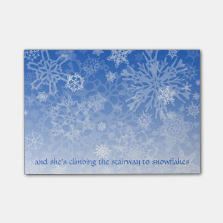 Stairway to Snowflakes Script Post-it Notes